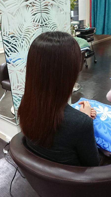 写真:ハナヘナ後の髪の色